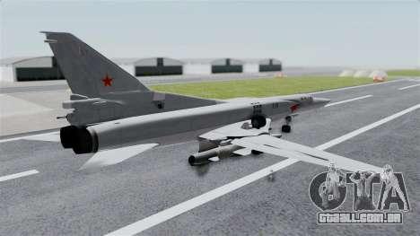TU-22M3 Cinza para GTA San Andreas esquerda vista