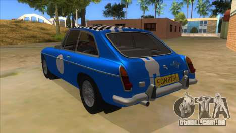 Richard Hammond MGB GT Top Gear para GTA San Andreas traseira esquerda vista
