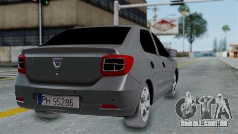 Dacia Logan para GTA San Andreas esquerda vista