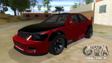 GTA V Karin Sultan RS 4 Door para GTA San Andreas vista interior