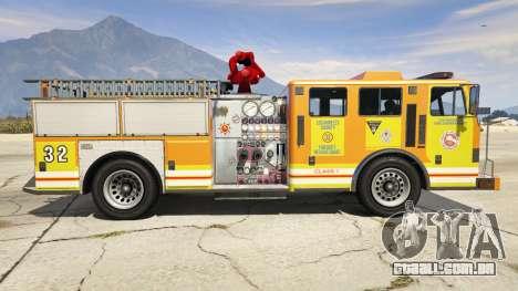 GTA 5 Los Angeles Fire Truck vista lateral esquerda