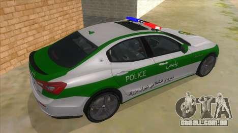 Maserati Iranian Police para GTA San Andreas vista direita