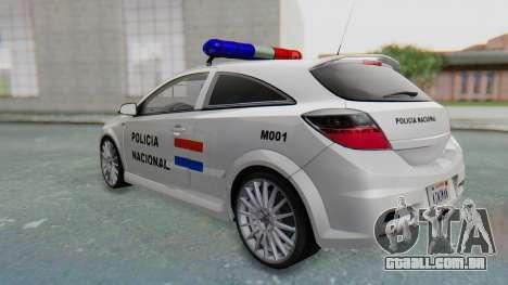 Opel-Vauxhall Astra Policia para GTA San Andreas vista direita