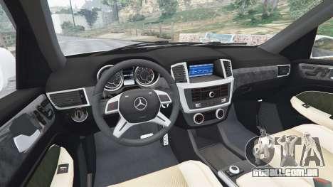 GTA 5 Mercedes-Benz GL63 (X166) AMG traseira direita vista lateral