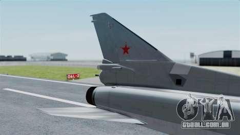 TU-22M3 Cinza para GTA San Andreas traseira esquerda vista