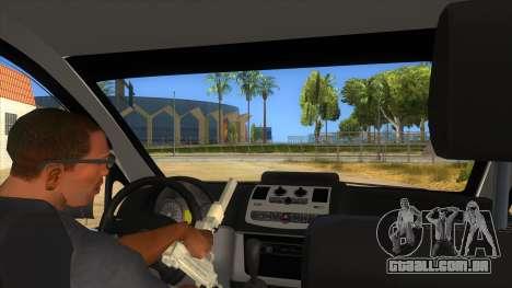 Mercedes Benz Vito Romania Police para GTA San Andreas vista interior