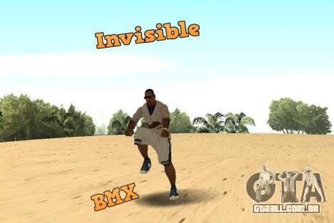 Invisibile BMX para GTA San Andreas