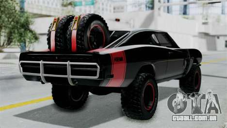 Dodge Charger 1970 Off Road  F&F7 para GTA San Andreas esquerda vista