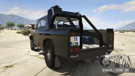 GTA 5 Land Rover 110 Pickup Armoured traseira vista lateral esquerda