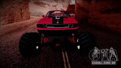 2009 Dodge Challenger SRT8 Monster Truck para GTA San Andreas vista inferior
