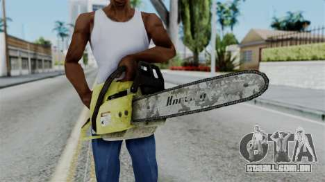 No More Room in Hell - Chainsaw para GTA San Andreas terceira tela