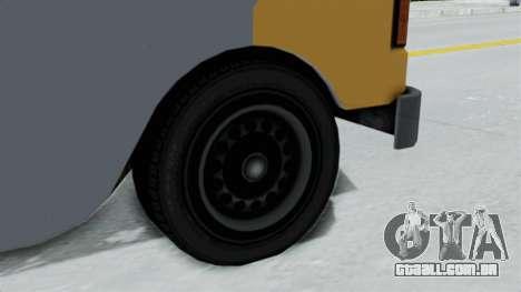 GTA 5 Tacovan para GTA San Andreas traseira esquerda vista