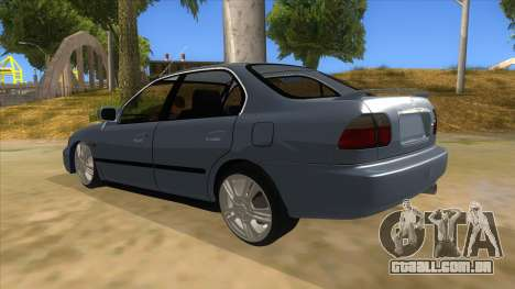 Honda Accord Sedan 1997 para GTA San Andreas traseira esquerda vista