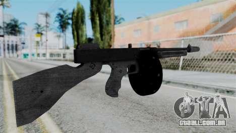 GTA 5 Gusenberg Sweeper - Misterix 4 Weapons para GTA San Andreas segunda tela