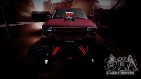 2003 Chevrolet Suburban Monster Truck para GTA San Andreas vista superior