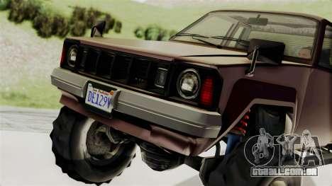GTA 5 Karin Technical Cleaner IVF para GTA San Andreas vista traseira