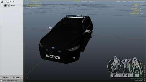 GTA 5 2014 Police Ford Mondeo Dog Section vista lateral direita