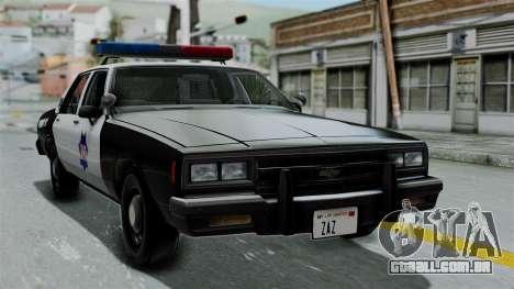 Chevrolet Impala 1985 SFPD para GTA San Andreas