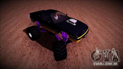 GTA 5 Imponte Ruiner Monster Truck para GTA San Andreas vista traseira