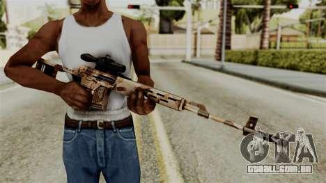 Dragunov Elite para GTA San Andreas terceira tela