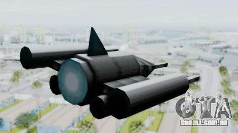 TCFU Spaceship para GTA San Andreas esquerda vista