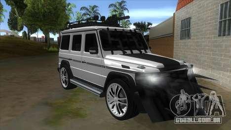 Mercedes-Benz G55 Response para GTA San Andreas vista traseira