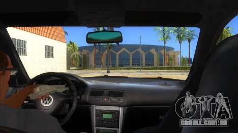 Volkswagen Golf R32 Hatsune Miku Itasha para GTA San Andreas vista interior
