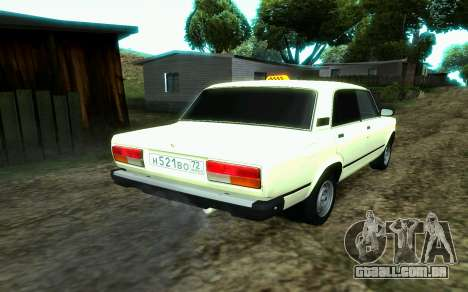VAZ 2107 de Táxi para GTA San Andreas esquerda vista