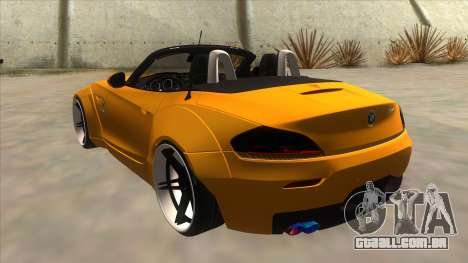 BMW Z4 Liberty Walk Performance para GTA San Andreas traseira esquerda vista