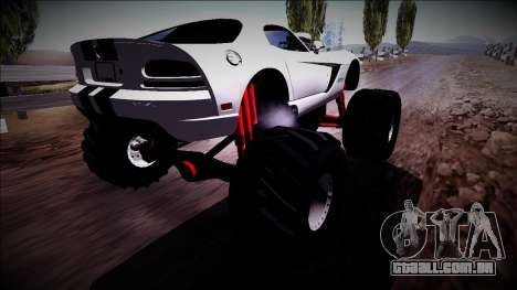Dodge Viper SRT10 Monster Truck para GTA San Andreas esquerda vista
