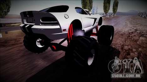 Dodge Viper SRT10 Monster Truck para GTA San Andreas esquerda vista