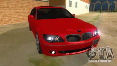 BMW 760 LI para GTA San Andreas vista traseira