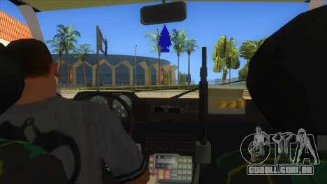 Yugo GV Police para GTA San Andreas vista interior