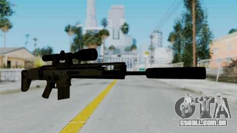 SCAR-20 v1 Supressor para GTA San Andreas