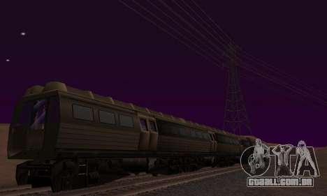 Batman Begins Monorail Train Vagon v1 para GTA San Andreas vista inferior