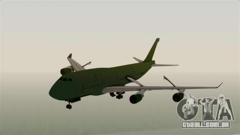 GTA 5 Jumbo Jet v1.0 para GTA San Andreas traseira esquerda vista