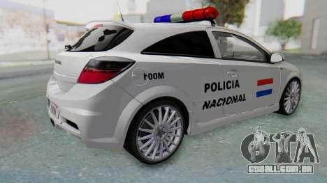 Opel-Vauxhall Astra Policia para GTA San Andreas esquerda vista