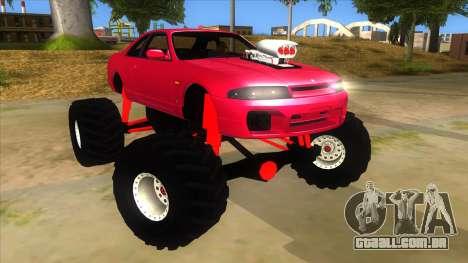 Nissan Skyline R33 Monster Truck para GTA San Andreas vista traseira