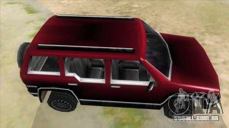 GTA III Landstalker para GTA San Andreas vista interior