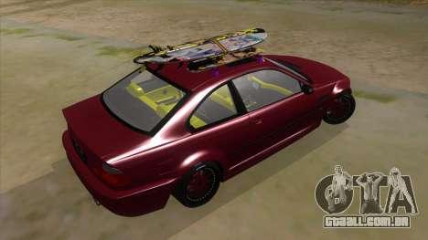BMW M3 E46 Lily Itasha para GTA San Andreas vista direita