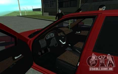 Lada 2170 Priora para GTA San Andreas vista traseira