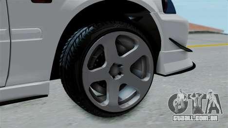 Honda Civic Hatchback para GTA San Andreas traseira esquerda vista