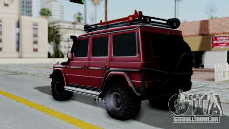 Mercedes-Benz G500 Off-Road v2.0 para GTA San Andreas esquerda vista