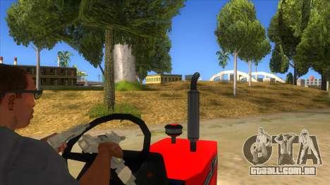 IMT Traktor para GTA San Andreas vista interior