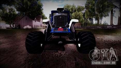 GTA 5 Albany Franken Stange Monster Truck para GTA San Andreas vista superior