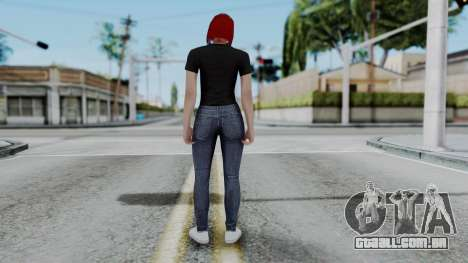 Female Skin 2 from GTA 5 Online para GTA San Andreas terceira tela