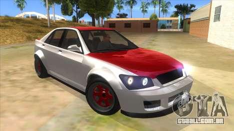 GTA V Karin Sultan RS 4 Door para GTA San Andreas vista traseira