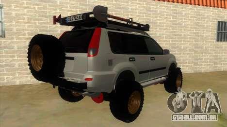 Nissan X-Trail 4x4 Dirty by Greedy para GTA San Andreas vista direita