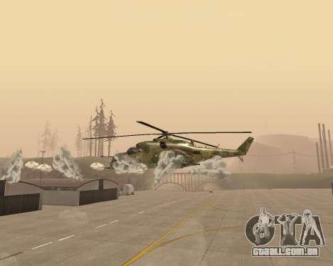 Um Mi-24 De Crocodilo para GTA San Andreas vista interior