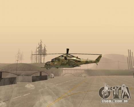 Um Mi-24 De Crocodilo para GTA San Andreas esquerda vista